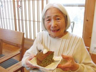 抹茶とあずきのシフォンケーキ