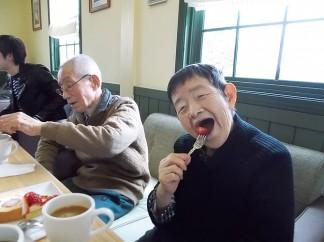 イチゴのカフェを楽しみました