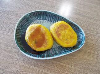 かぼちゃ餅を作りました